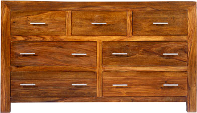 Glass Cabinet Chest of Drawers