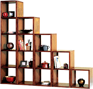 2 Hole Cube Wooden Display Shelving Unit