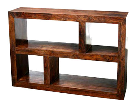 Rustic Wood Shelving Unit rustic journey hardwood furniture garden ...